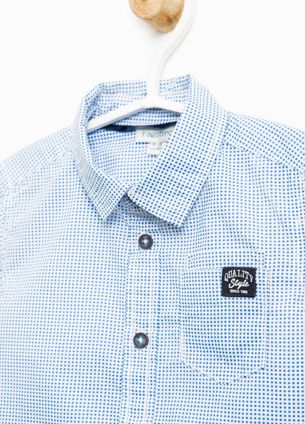Camicia puro cotone stampa a pois | OVS