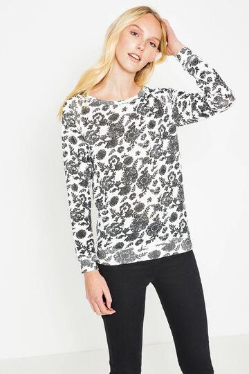 Floral, 100% cotton T-shirt