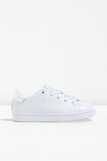 Openwork sneakers with contrasting colour back, White, hi-res