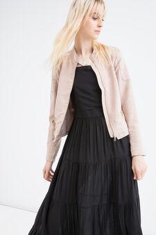 Suede look jacket, Powder Pink, hi-res