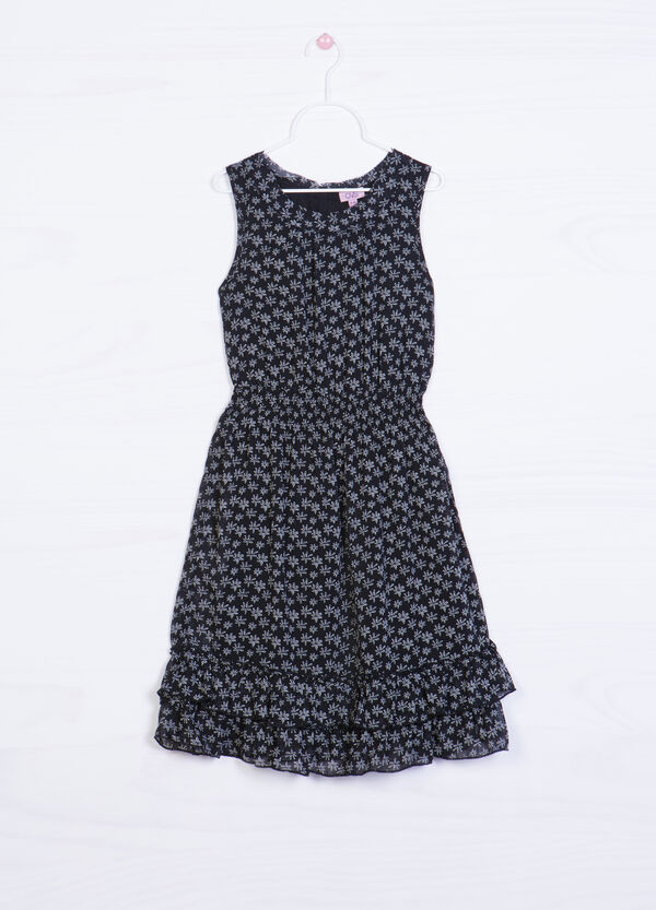 Dress with printed flounces | OVS