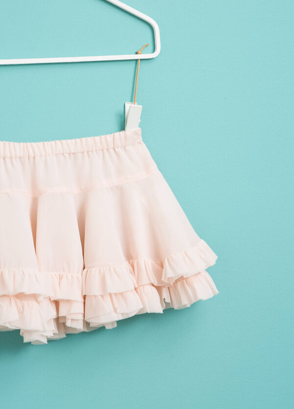 Flounced skirt with frills | OVS