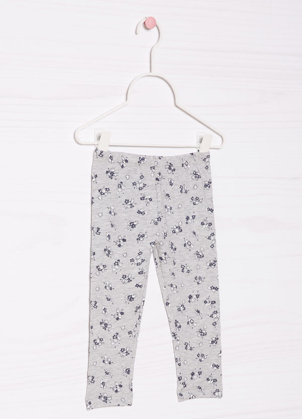 Stretch trousers with print | OVS