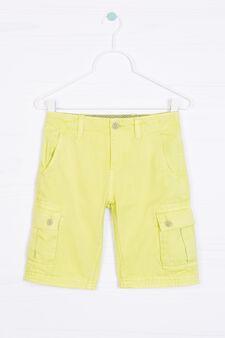 Bermuda cargo shorts in 100% cotton, Acid Green, hi-res