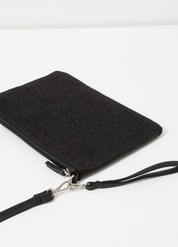 Solid colour clutch with cross body strap | OVS