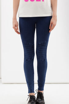 Regular fit stretch jeggings, Blue, hi-res