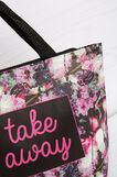 Floral pattern handbag, Multicolour, hi-res