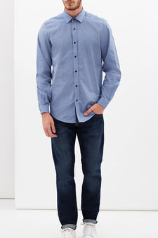 Custom-fit chambray shirt, Soft Blue, hi-res
