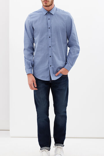 Camicia custom fit in chambray, Blu chiaro, hi-res