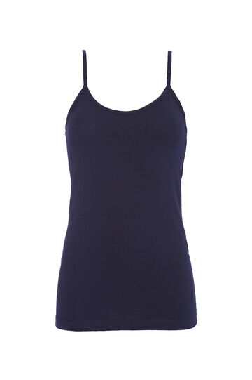 Solid colour stretch jersey top