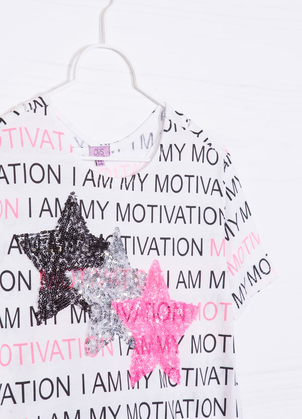 T-shirt with print and sequins | OVS