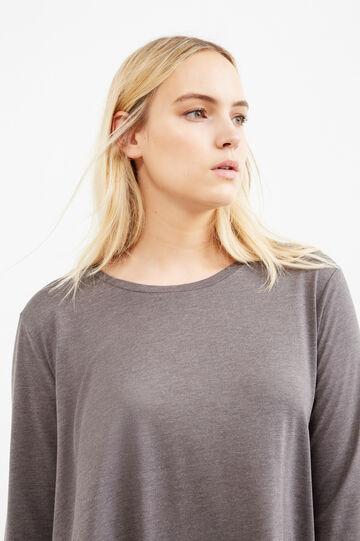 T-shirt fondo asimmetrico Curvy, Grigio, hi-res