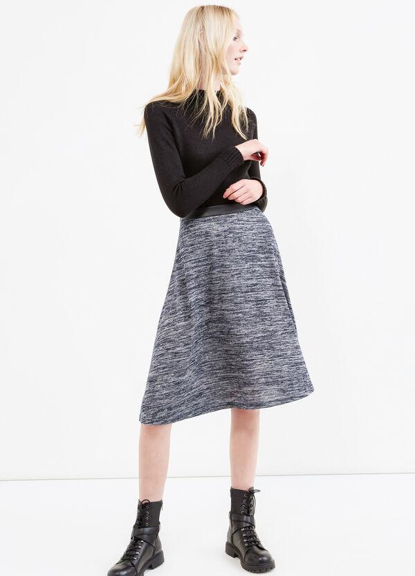 Viscose blend midi skirt | OVS