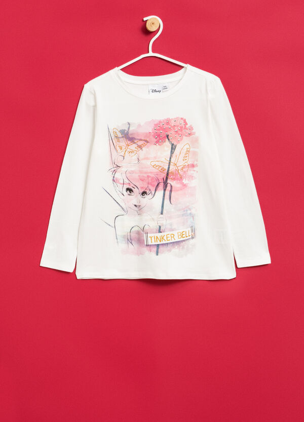 Stretch T-shirt with Tinkerbell print | OVS