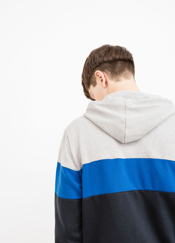 Multi-coloured cotton blend hoodie | OVS