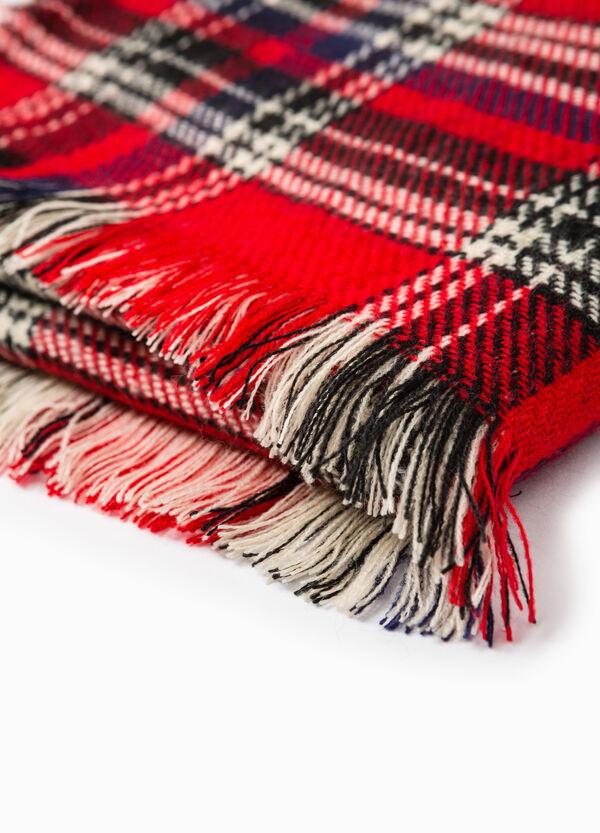 Tartan pattern knit scarf | OVS