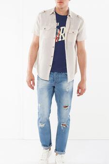 Camicia con taschini, Beige chiaro, hi-res