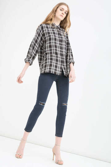 100% viscose checked shirt