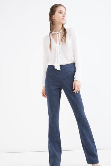 Pantaloni lavorazione jacquard