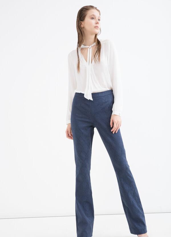 Jacquard work trousers | OVS