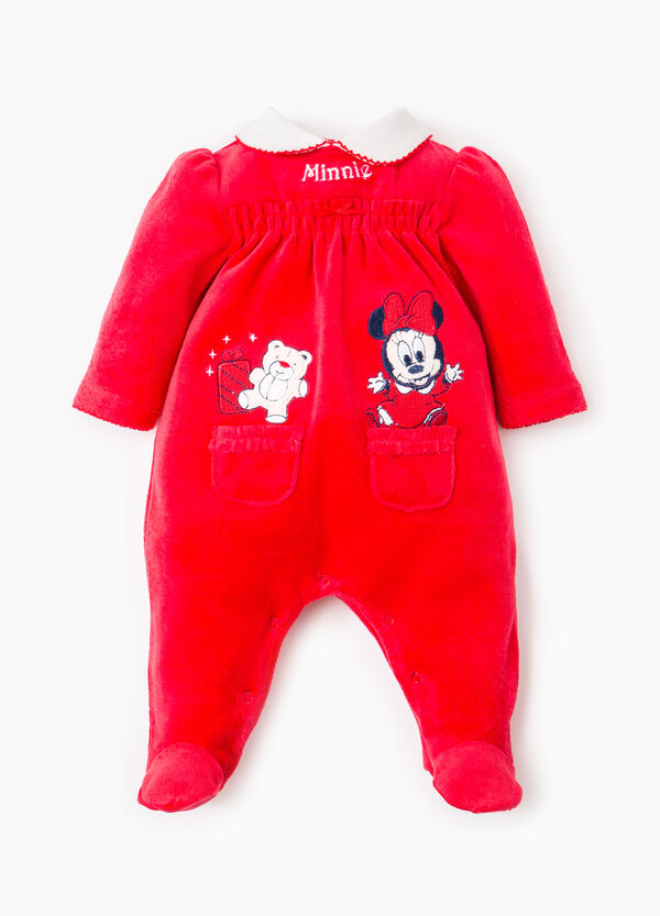 Onesie with feet and Baby Minnie Mouse patch | OVS