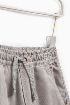100% cotton joggers with drawstring, Grey/Silver, hi-res