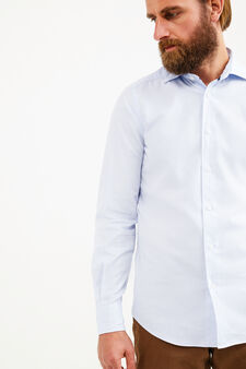 Rumford slim-fit casual shirt, Soft Blue, hi-res