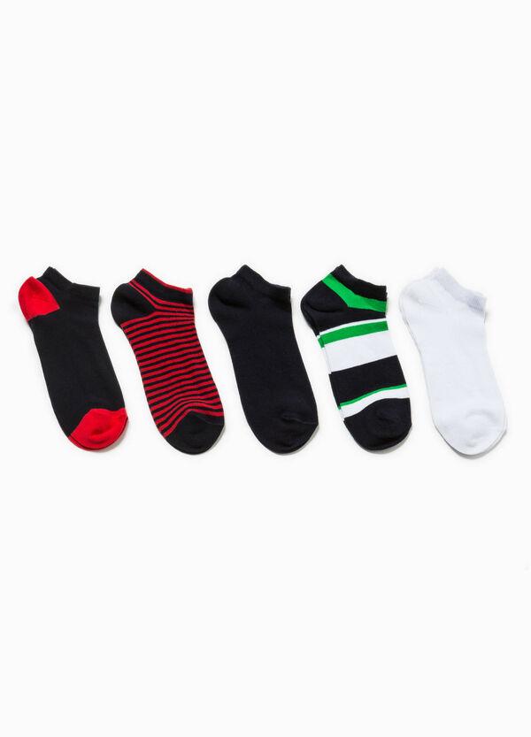 Set cinque calze corte a righe   OVS