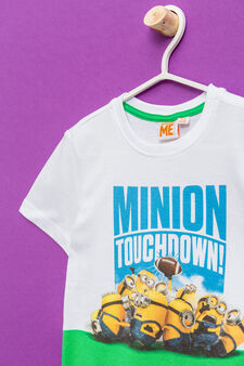 Minions printed T-shirt in 100% cotton, Optical White, hi-res