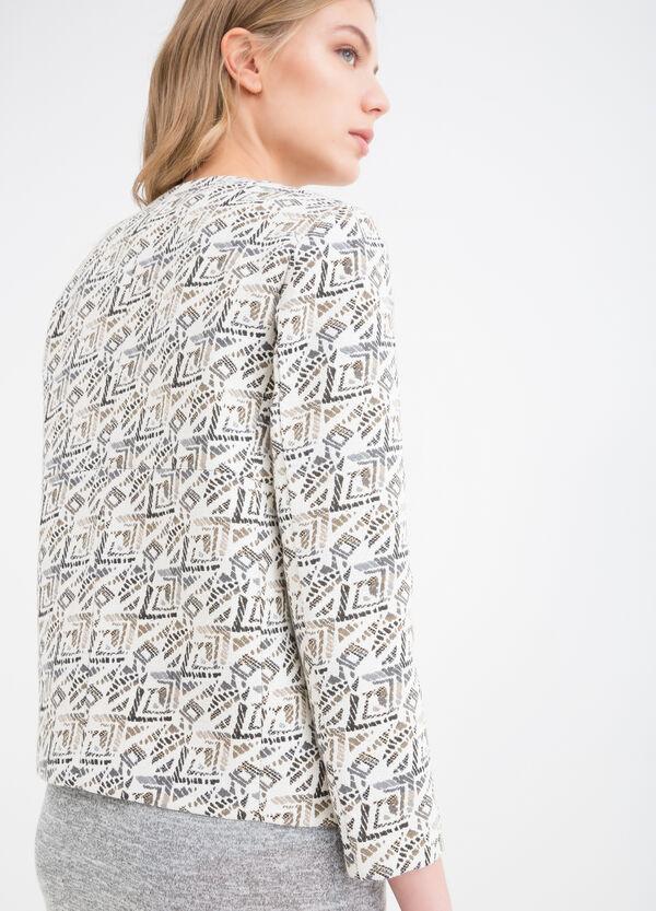 Jacquard blazer with geometric print | OVS