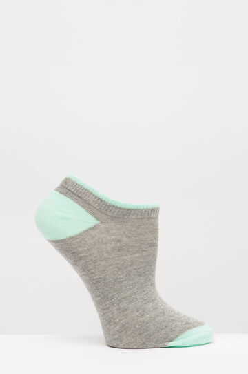 Five-pack of cotton blend socks, Grey, hi-res
