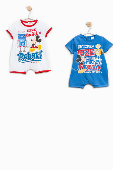 Two-pack Mickey Mouse Robot onesies, White/Blue/Red, hi-res