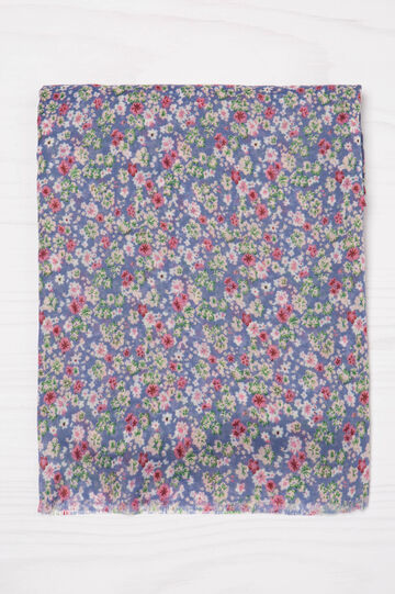Floral pattern scarf, Multicolour, hi-res