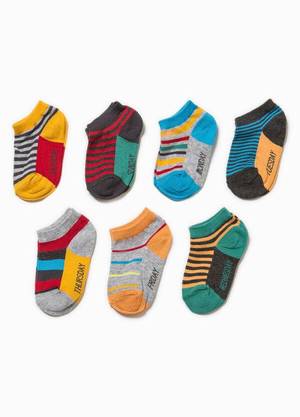 Set sette paia di calze fantasia a righe | OVS