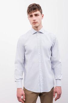 Patterned regular-fit formal shirt, White/Blue, hi-res