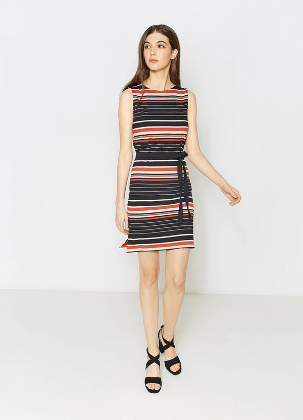 Sleeveless striped jersey dress | OVS