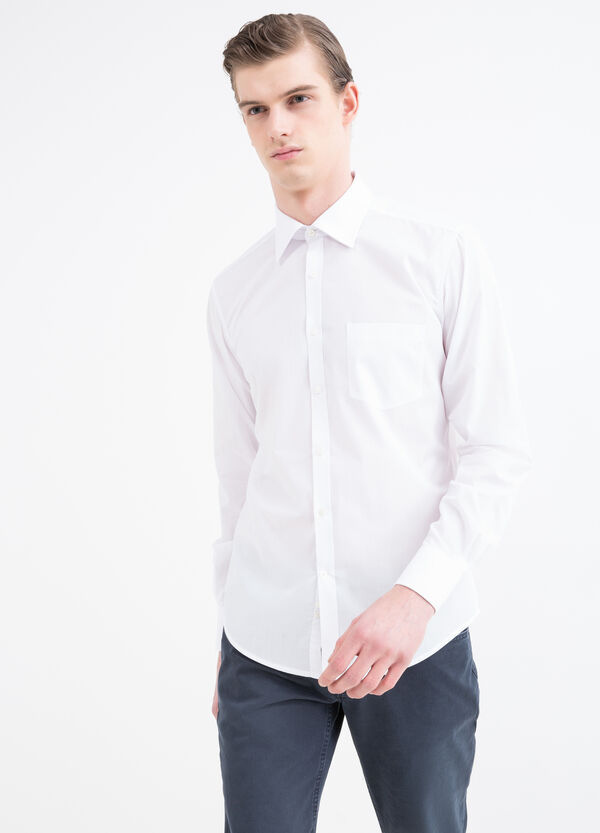 Plain cotton mix shirt | OVS
