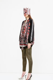 Printed bomber jacket, Jean Paul Gaultier for OVS, Multicolour, hi-res