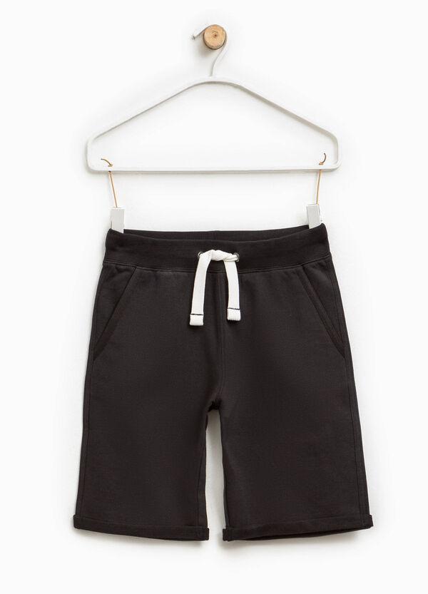 Bermuda shorts with ribbed waistband and drawstring   OVS