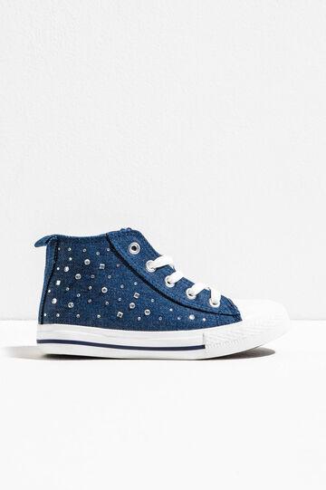 Sneakers alte con lacci e strass