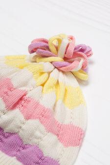 Cappello a cuffia cotone a tricot, Multicolor, hi-res