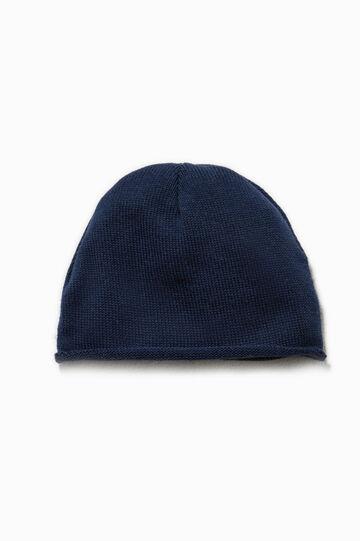 Cappello a cuffia in cotone, Blu, hi-res