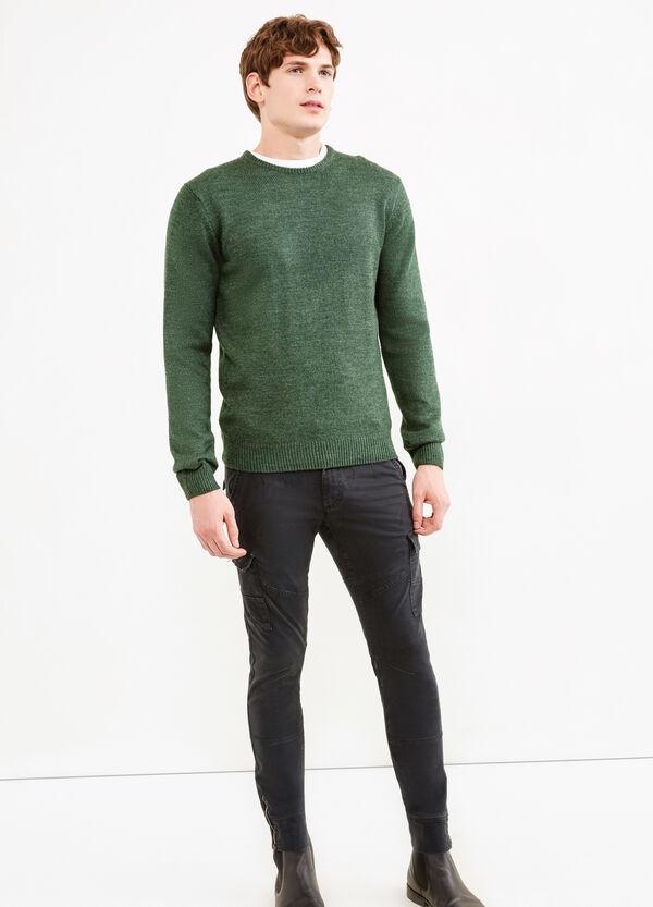 Pantaloni cargo cotone stretch tinta unita | OVS