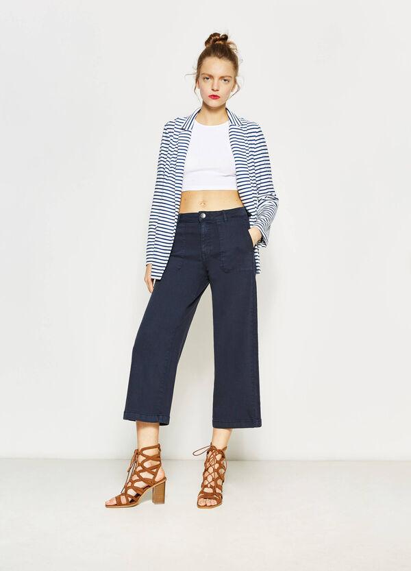 Long stretch striped blazer | OVS