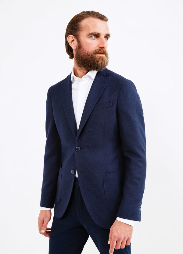 Wool blend Rumford jacket with lapels | OVS
