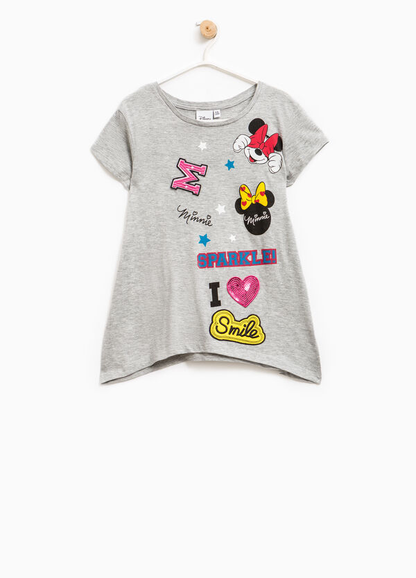 T-shirt with patch and Minnie Mouse print | OVS