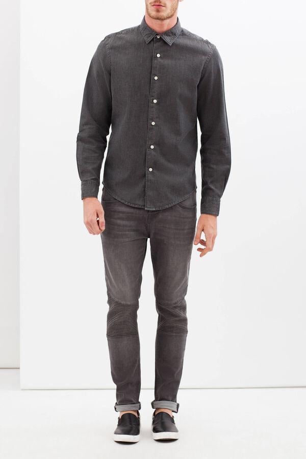 Camicia tinta unita in cotone | OVS