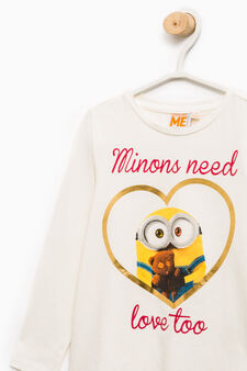 Minions T-shirt in stretch cotton, Milky White, hi-res