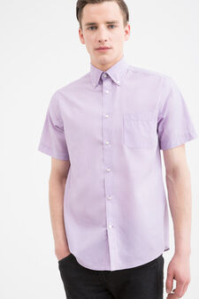 Regular-fit striped shirt, Lilac, hi-res