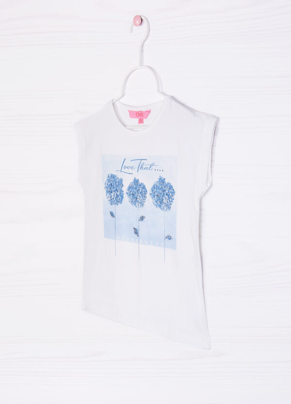 Stretch sleeveless T-shirt | OVS